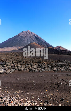 Volcano Pico do Fogo, Chã das Caldeiras, Island Fogo, Island of Fire, Cape Verde, Cabo Verde, Africa. - Stock Photo