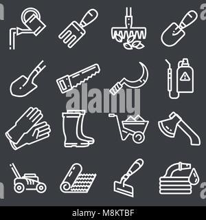 Web icons set - Gardening, tools - Stock Photo