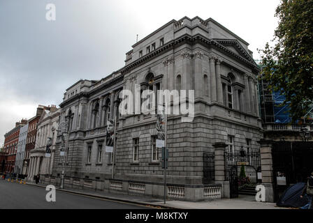 Natiional Library of Ireland  close to Leinster House. Leinster House is the National Parliament of Ireland. Dublin - Stock Photo