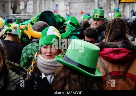Dublin, Ireland. 17th March, 2018. Dublin St Patrick's Day Parade Ireland feastival Credit: Adam Goodwin/Alamy Live - Stock Photo