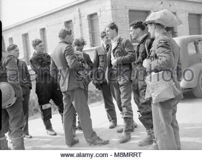 Royal Air Force- France, 1939-1940. The Commanding Officer of No. 73 Squadron RAF, Squadron Leader J W C 'Hank' - Stock Photo