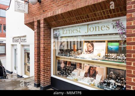 The Ernst Jones Jewelry shop in Windsor, UK. - Stock Photo
