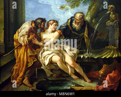 Suzanne and the old men 1743 - 1744 Joseph Marie VIEN ,1716 - 1809, France, French, - Stock Photo