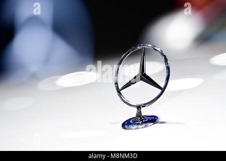 NONTHABURI - NOVEMBER 29 : Logo of Mercedes-Benz on display at Thailand International Motor Expo 2017 on November - Stock Photo