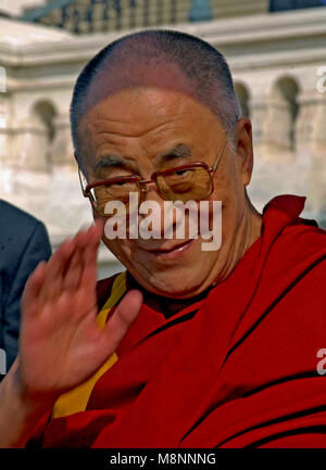 Washington DC., USA, October 17, 2007   His Holiness The  14th Dalia Lama Lhamo Dondrub of Tibet Presides over event - Stock Photo