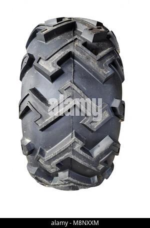 Tire atv isolated on white - Stock Photo