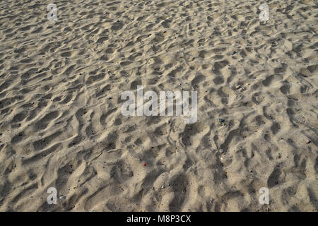 Footprints in the Sand of the Beach of Tarrafal, Santiago Island, Cape Verde - Stock Photo
