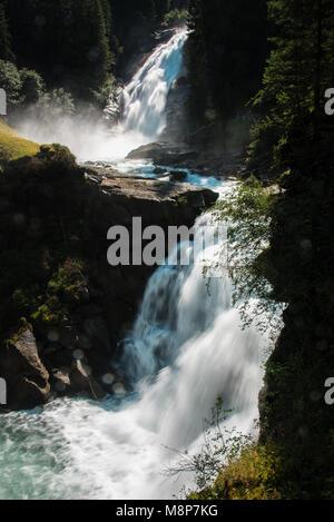 Krimml Waterfalls in High Tauern National Park