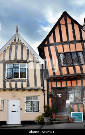 the crooked house timber framed tudor house lavenham suffolk england - Stock Photo
