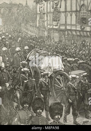 Funeral of Queen Victoria, 2 February 1901. The last stage, Windsor, Berkshire, England - Stock Photo