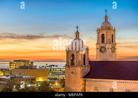 Corpus Christi, Texas, USA at Corpus Christi Cathedral in the early morning. - Stock Photo