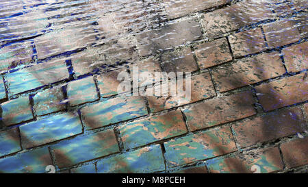 Brick wall, obstacle, barrier, background, bricks - Stock Photo