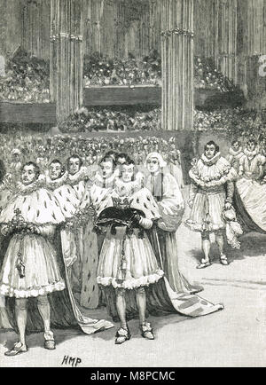 Coronation of William IV, 8 September 1831, Westminster Abbey - Stock Photo