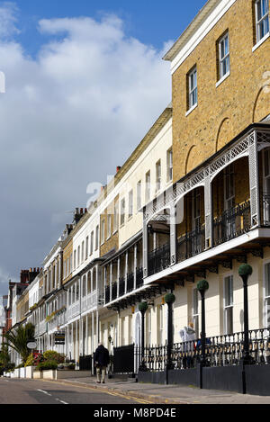 Royal Terrace and Royal Hotel, Southend on Sea, Essex, UK. Built between 1791 and 1793. Houses in the terrace were - Stock Photo