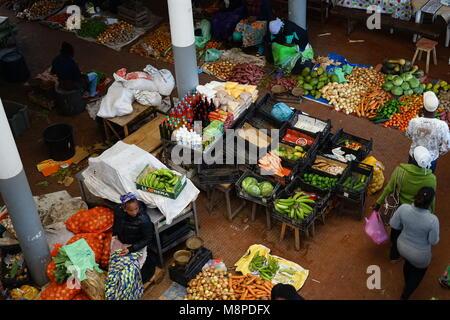 The market of Assomada, Santiago Island, Cape Verde - Stock Photo