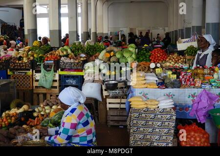 The market of Assomada, Santiago Island, Cape Verde, Africa - Stock Photo
