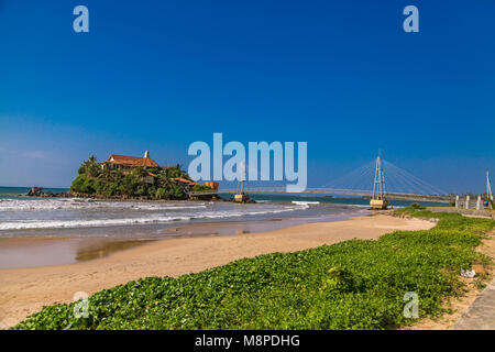 View at Paravi Duwa Temple in  Matara, Sri Lanka - Stock Photo
