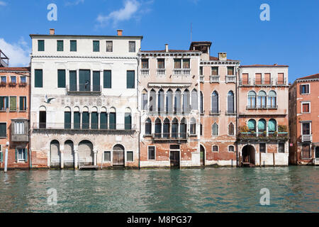 Ca' da Mosto,  the oldest palace on the Canal Grande, Casa Dolfin, Palazzo Bollani Erizzo, Grand Canal, Cannaregio, - Stock Photo