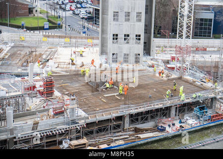 Construction,of,new,hospital,Carillion,NHS,National,Health,Service, Trust,The Royal Liverpool University Hospital,Liverpool,Merseyside,U.K.,UK,Europe, - Stock Photo