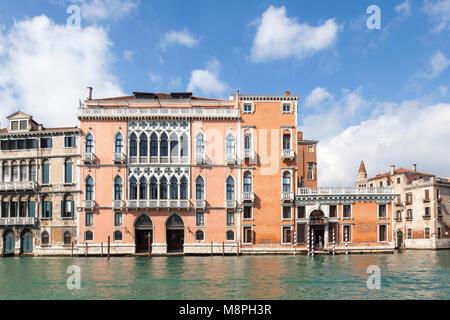 Grand Canal Facade Of Palazzo Corner Della Regina Venice
