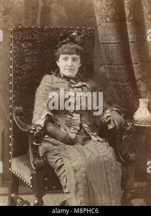 Antique c1880 photograph, Frances Hodgson Burnett. Frances Eliza Hodgson Burnett (1849-1924) was a British-American - Stock Photo
