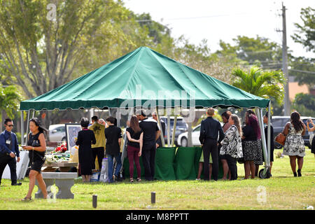 FORT LAUDERDALE,  FL - FEBRUARY 20: Peter Wang, 15, who was among the 17 people killed by a gunman at Marjory Stoneman - Stock Photo