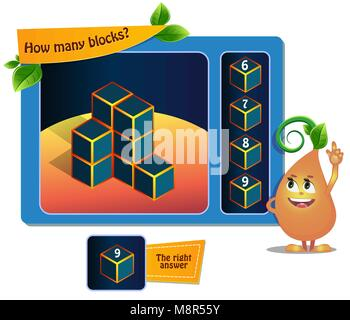 educational game for kids, puzzle. development of spatial thinking in children (suitable both for kids and adults). - Stock Photo