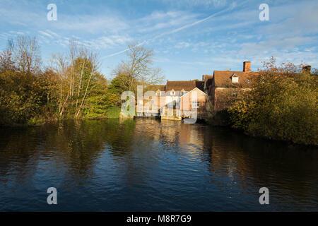 John Constable Artist impressionist painter flatford mill England UK - Stock Photo