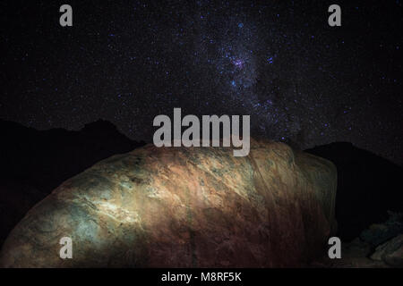 The night sky  as seen from Namibia's Sperrgebiet region - Stock Photo