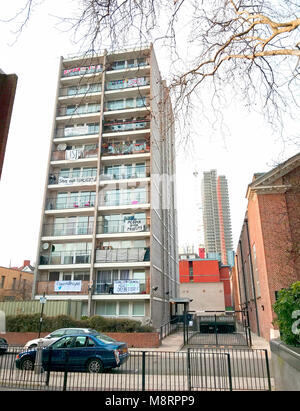 Photo Must Be Credited ©Alpha Press 066465 12/03/2018 Burnhill House in Norman Street, London. A group of Finsbury - Stock Photo