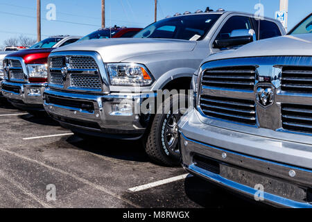 Noblesville - Circa March 2018: Ram Truck Dealership. Ram is a subsidiary of Fiat Chrysler Automobiles. FCA is the - Stock Photo