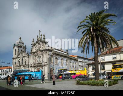 igreja do carmo landmark church in central porto city portugal - Stock Photo