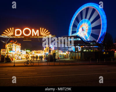 Hamburg, Germany - April 04, 2016: The Hamburger Dom, held three times a year, is the biggest public festival  in - Stock Photo
