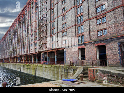 Stanley Dock Tobacco warehouse in Liverpool UK, is a grade II listed building the largest brick building in the - Stock Photo