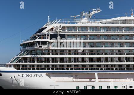 Viking Star cruise ship detail - Stock Photo