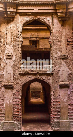 Step Well of  Adalaj. Gujarat, India. - Stock Photo