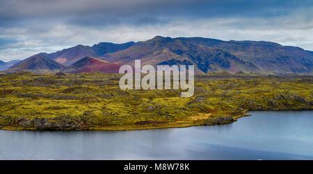 Colourful Icelandic landscape - Stock Photo