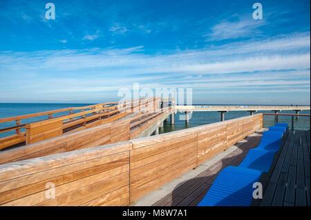 Pier, Heiligenhafen, Baltic Sea, Schleswig-Holstein, Germany, Europe - Stock Photo