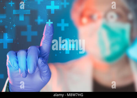Emergency medicine specialist working in medical clinic hospital, portrait of female healthcare professional - Stock Photo
