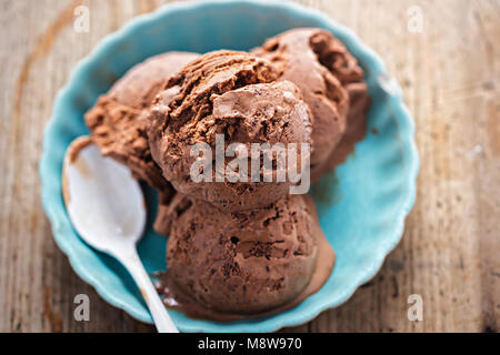 Belgian chocolate ice creams - Stock Photo