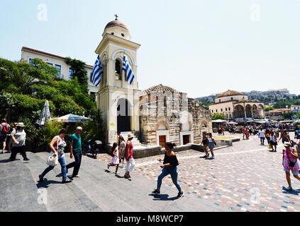 Tsisdarakis Mosque in Monastiraki, Central Athens, Greece. - Stock Photo