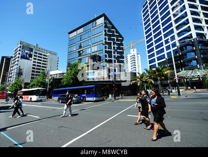 New modern buildings in Auckland's CBD. - Stock Photo