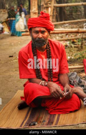 portrait of a sadhu , monk , holy man - Stock Photo