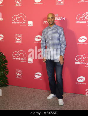 Key Biscayne, Florida, USA. 20th March, 2018. James Blake during Day 2 of the Miami Open at the Players Party on - Stock Photo