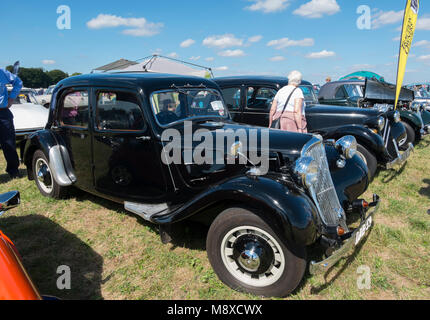1950s Citroen Traction Avant Light 15 car at the Gloucestershire Vintage Country Show in Cirencester 2016 - Stock Photo