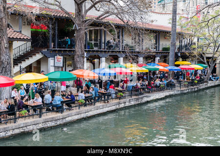 San Antonio River Walk, Texas - Stock Photo