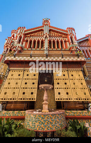 Casa Vicens, designed by Antoni Gaudi and considered one of the first buildings of Art Nouveau, Barcelona, Catalonia, - Stock Photo