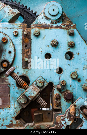Old Heavy Machinery Detail. - Stock Photo