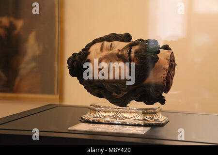 Head of John the Baptist at Seville Cathedral in Spain - Stock Photo