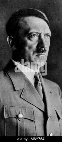 adolf hitler portrait by hans hoffman, 1933 - Stock Photo